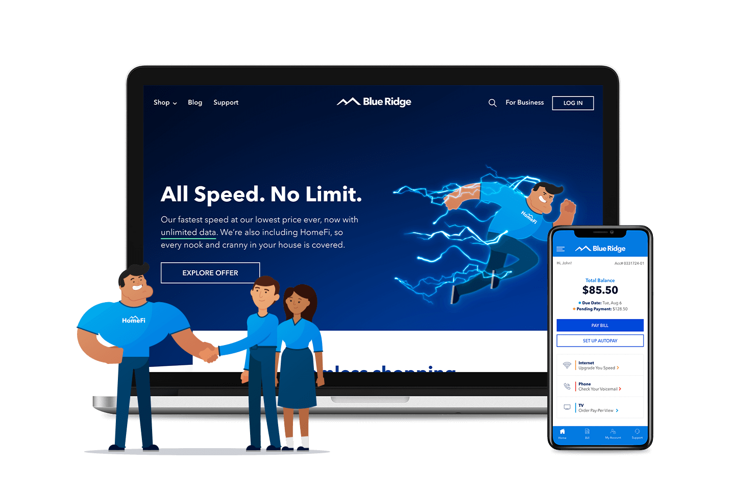 Powerful digital design and technology examples from Liquid's partnership with Blue Ridge Communications